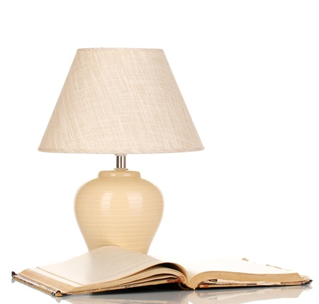table lamp isolated on white Stock Photo - 16339757