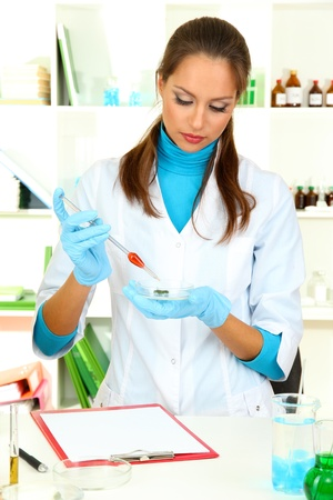 Young scientist in  laboratory  Stock Photo - 17130227