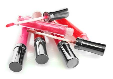 applicator: beautiful lip glosses, isolated on white