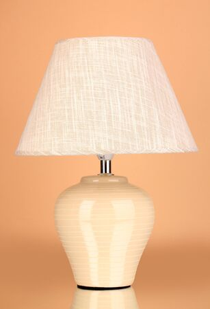 table lamp on beige background photo
