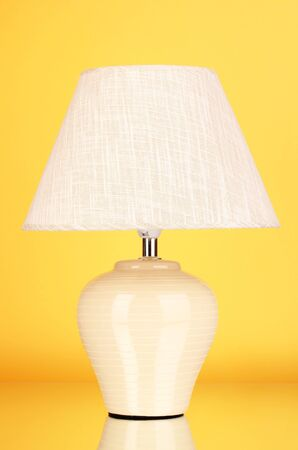 table lamp on yellow background Stock Photo - 16413097