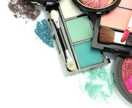 beautiful decorative cosmetics, isolated on white Stock Photo - 16495646