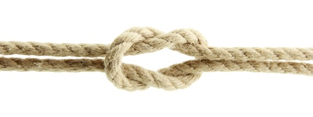 gibbet: rope with knot, isolated on white
