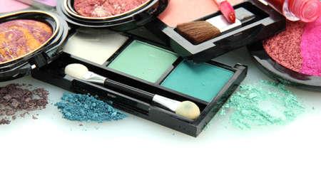 beautiful decorative cosmetics, isolated on white Stock Photo - 16592538