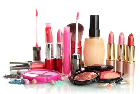 beautiful decorative cosmetics, isolated on white Stock Photo - 16576842