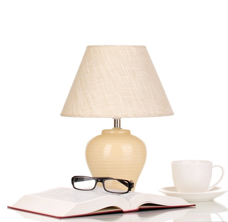 table lamp isolated on white Stock Photo - 16566302