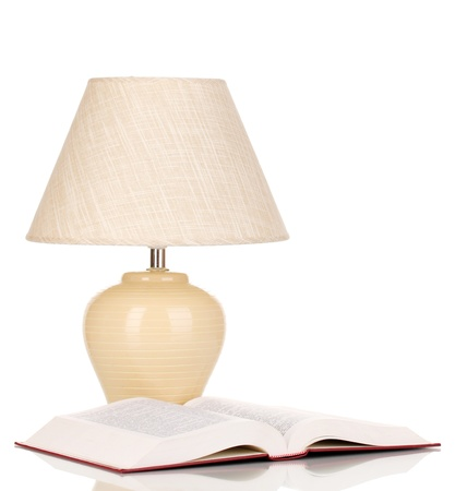 table lamp isolated on white Stock Photo - 16590955
