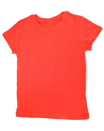 tshirt: Red t-shirt isolated on white