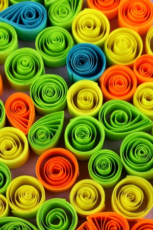 quilling: Colorful quilling close-up