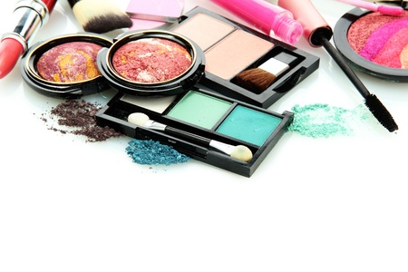 beautiful decorative cosmetics, isolated on white Stock Photo - 16620396