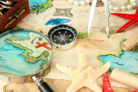 map of treasures background Stock Photo - 16620694