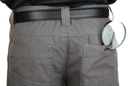 magnifier in back pocket close-up Stock Photo - 16739065