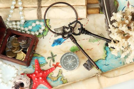 map of treasures background Stock Photo - 16788955