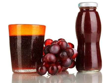 Delicious grapes juice isolated on white Stock Photo - 16788078