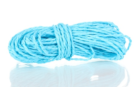 Colored rope isolated on white background photo