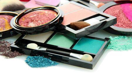 beautiful decorative cosmetics, isolated on white Stock Photo - 16864898
