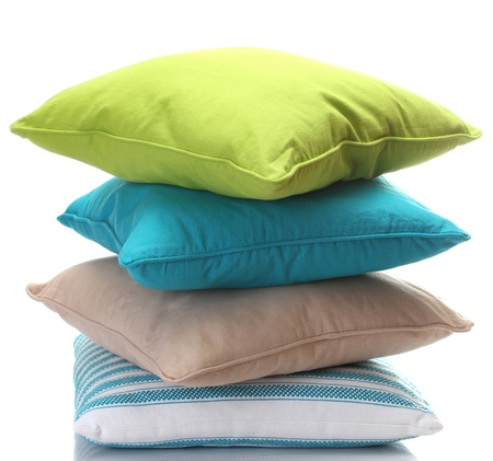 pillow: bright pillows isolated on white