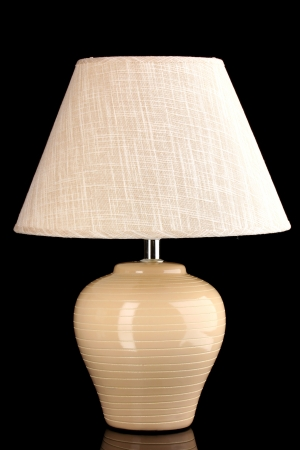 table lamp isolated on black photo