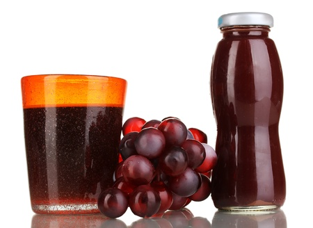 Delicious grapes juice isolated on white Stock Photo - 16944943