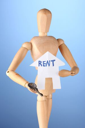 Rent estate.On color background Stock Photo - 17000320