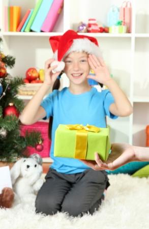 Christmas gift for little girl Stock Photo - 17129520