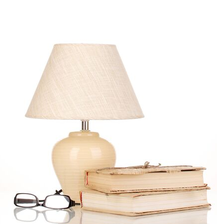 table lamp isolated on white photo