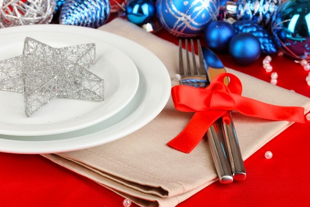 Serving Christmas table close-up Stock Photo - 17046869