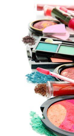beautiful decorative cosmetics, isolated on white Stock Photo - 17083290