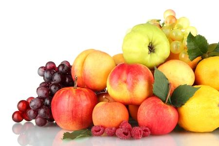Assortment of exotic fruits isolated on white Stock Photo - 17083667