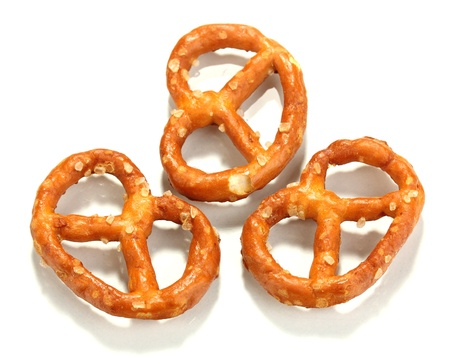 Tasty pretzels isolated on white Stock Photo - 17086125
