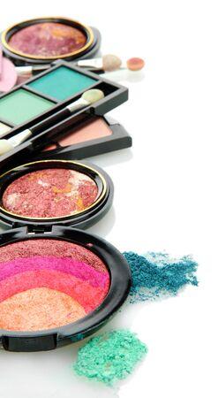 beautiful decorative cosmetics, isolated on white Stock Photo - 17110536