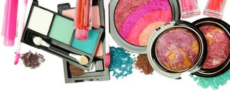 beautiful decorative cosmetics, isolated on white Stock Photo - 17110937