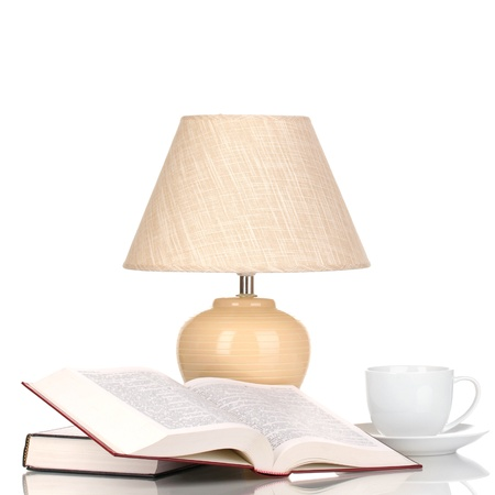 table lamp isolated on white Stock Photo - 17110584