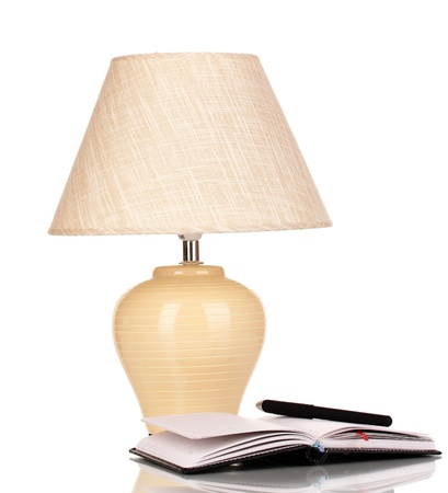 table lamp isolated on white Stock Photo - 17137966