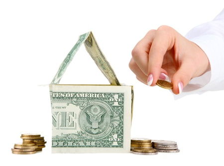 concept: investment to house Stock Photo - 17138013