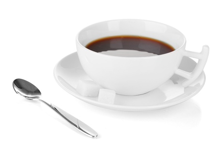A cup of strong coffee isolated on white Stock Photo - 17137815