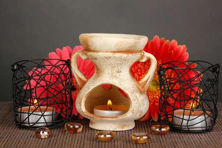 candil: Aromaterapia l�mpara sobre fondo gris