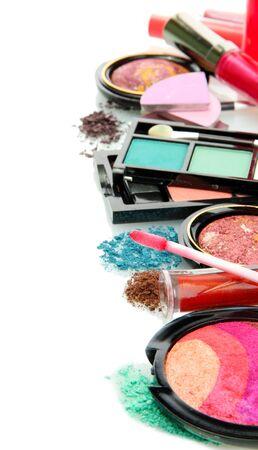 beautiful decorative cosmetics, isolated on white Stock Photo - 17138531