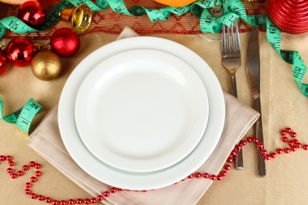 microelements: Diet during the New Years feast close-up Stock Photo
