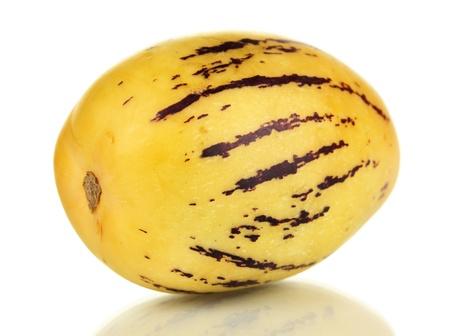 pepino: Ripe pepino isolated on white