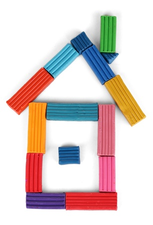Children bright plasticine isolated on white Stock Photo - 17401264