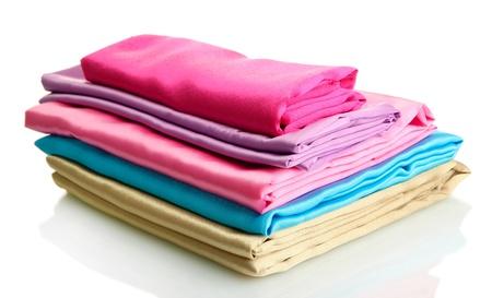 heap of cloth fabrics isolated on white Stock Photo - 17485775