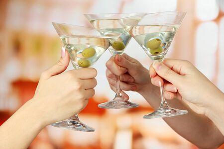 Corporate party martini glasses photo