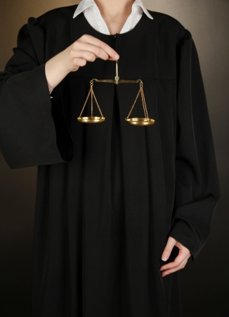 Judge on black background Stock Photo - 17636489