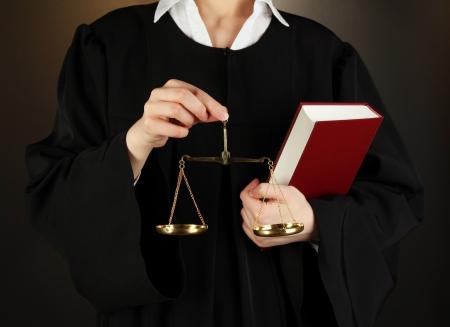 Judge on black background Stock Photo - 17716158