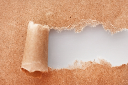 kraft: Torn kraft paper background