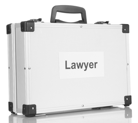 Silvery diplomat (suitcase) isolated on white Stock Photo - 17770071
