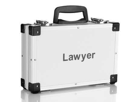 Silvery diplomat (suitcase) isolated on white Stock Photo - 17834477