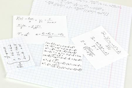 cheat: Cheat sheet isolated on white Stock Photo