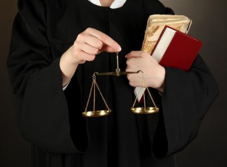Judge on black background Stock Photo - 18042638